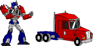 TFP Optimus Prime+truck mode by optimus11455