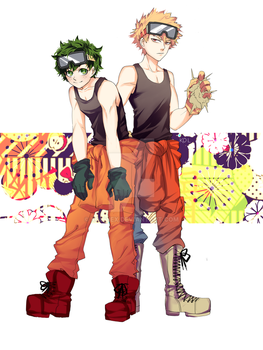 deku and kacchan by Danisboring101