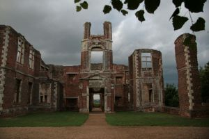 scary ruin of Houghton House by barefootliam-stock