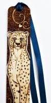 Pyrography Cheetah bookmark by BumbleBeeFairy