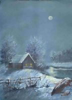 Winter evening 2 by mbart