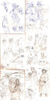 Sketches August '14 by Frey-ofthe-Arcane