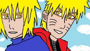 Minato and Naruto-The father and son -Toad sages by Fran48