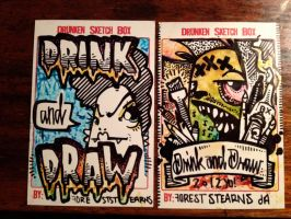 Drink and Draw UPS in color by draweverywhere