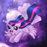MLP FIM - Princess Twilight Sparkle Flying by Joakaha