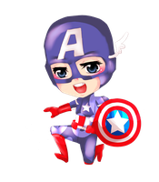 Captain America Chibi by Leefuu
