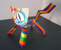 Artistic Paper Cat by melllic