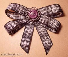 Checkered Button Brooch by DombiHugi