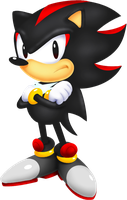 Classic Shadow the Hedgehog by anotherblazehedgehog