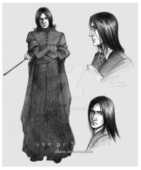 Snape sketches by ellaine