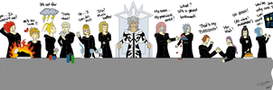 KH: Org XIII Christmas Dinner by nameless-dreamer