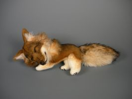 Sleepy Timber Wolf Plush by WhittyKitty