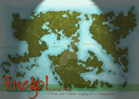 World Map for Fuego! Roleplay Community by JhekieJ