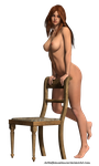 Free Stock:  Nude with Chair 3d render by ArtReferenceSource