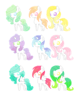 Pastel Chibi Adopts .:OPEN:. by Cerulean-Wings
