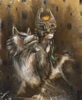 Wolf Link and Midna Fan Art by Pandoras-Encore
