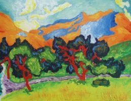Loose Reproduction: The Mountains at Collioure by Dunn95