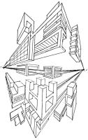2 point perspective by Triptych-Schift