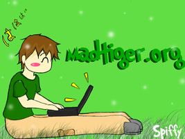 SPIFFY Madtiger wallpaper by elf-shadow