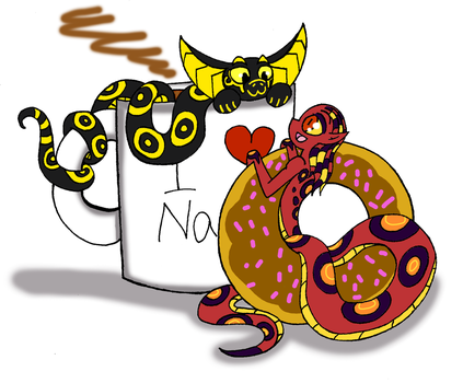 (Gift) Coffee and donuts by charlotte199056