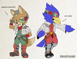 Fox and Falco SD by RaxkiYamato