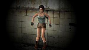 Lara Croft in trouble by honkus2