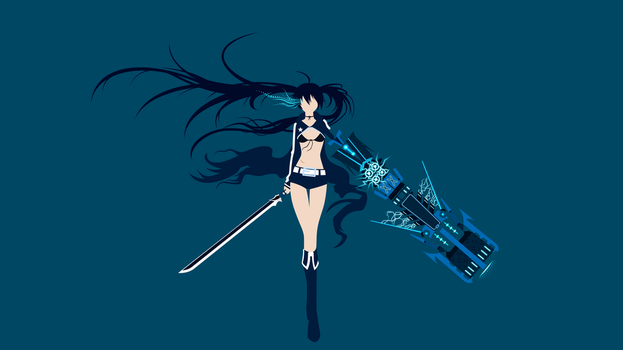 Black Rock Shooter minimalism wallpaper by Carionto