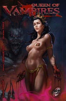 ARH Comix: Queen of Vampires CoverArt by pindurski