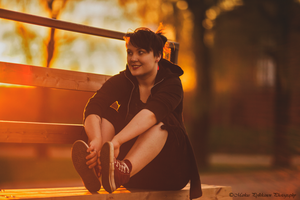 A sunset and a girl by Brunobinch