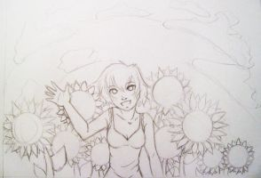Sketch +sunflowers+ by EmmersDrawberry