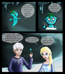 Jack Frost, Elsa and their biggest chilly fan by chillydragon
