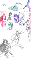 Homestuck Sketchdump by Sarochan
