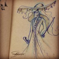 Mariachi Skeleton :: Meh by Space-Jacket