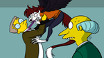 Smithers vs alien by Mimi-fox