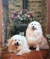 Pyrenees dogs commissioned by cuppa-chino