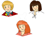 Sixth Doctor Chibi Set by cookiepianosart