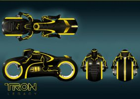 TRON - Clu's Light Cycle by Paul-Muad-Dib