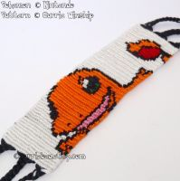Charmander 1.5' Bracelet Cuff by CarrieBea