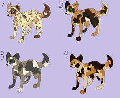 Wild Dog Adoptables by Silhouett3s