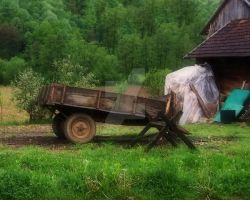 Old Wooden Wagon by kalliope94041
