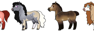 Horse Adoptables 3 (CLOSED) by mosiebear