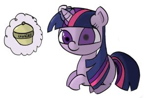 Twilight gets a cookie by Captain64