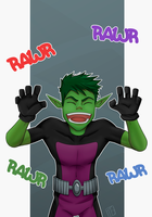 Beast Boy Rawr by IBlackWolf