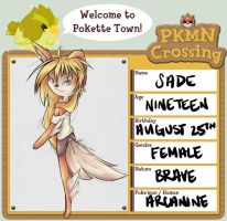 PKMN Crossing Application - Sade by ShhItsDark