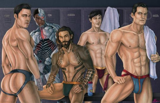 The Men of The Justice League by JGiampietro