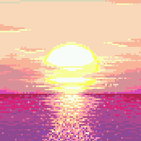Pixelated Sun by Maji-Kae