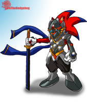 Sir Vermillion the evil knight by SaroTheHedgehog