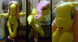 Plushie: Fluttershy Backpack by Vivid-Dreamer-Kimiko