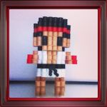 Ryu (Street Fighter) by VoxelPerlers