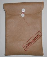 Confidential Felt Envelope by kiddomerriweather